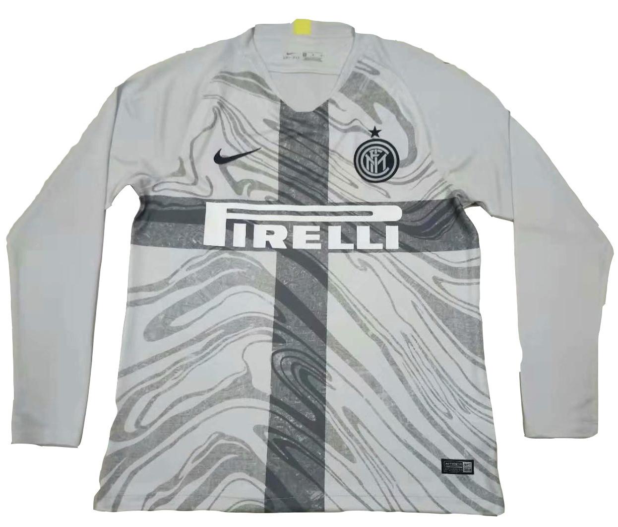 meet a9637 d4b05 18/19 Inter Milan The 3rd Long Sleeve Soccer Jersey