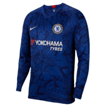 2019/20 Chelsea Home Blue Long Sleeve Soccer Jersey