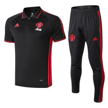 2019/20 Man Utd Black Polo Tracksuit