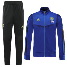 2019/20 Man Utd Blue Jacket Tracksuit