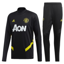2019/20 Man Utd Black  Sweater Tracksuit