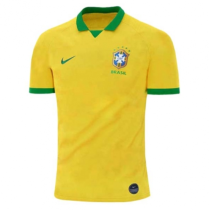 2019 Brazil Home Yellow 1:1 Quality Fans Soccer Jersey