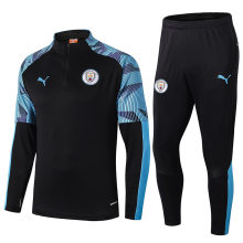 2019/20 Man City Black Half Pull Sweater Tracksuit