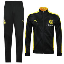 2019/20 Dortmund Black And Yellow Jacket Tracksuit