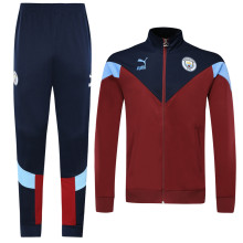 2019/20 Man City Red Jacket Tracksuit