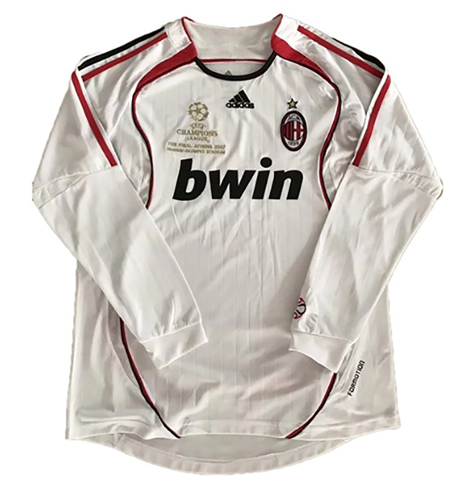 US$ 17.98 - 2006-2007 AC Milan Home Retro Long Sleeve ...