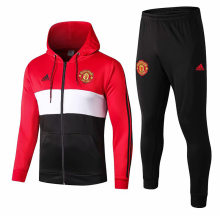 2019/20 Man Utd Red Hoody Zipper Jacket Tracksuit