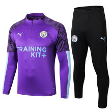 2019/20 Man City Purple Half Pull Sweater Tracksuit