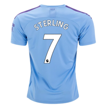 STERLING #7 Man City Home Blue Fans Soccer Jersey 19/20