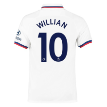 WILLIAN #10 Chelsea Away White Fans Soccer Jersey 19/20