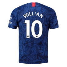 WILLIAN #10 Chelsea Home Blue Fans Soccer Jersey 19/20