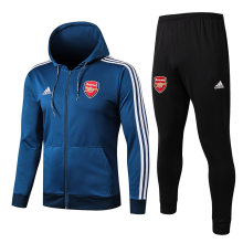 2019/20  Arsenal  Blue Hoody Zipper Jacket Tracksuit