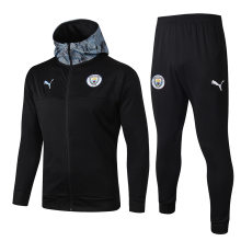 2019/20  Man City Black Hoody Zipper Jacket Tracksuit