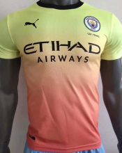 2019/20 Man City Away Yellow Player Version Soccer Jersey