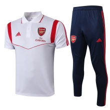2019/20 Arsenal White Polo Tracksuit