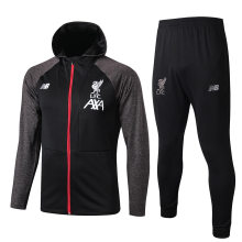 2019/20 Liverpool Black Hoody Zipper Jacket Tracksuit