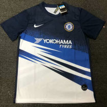 2019 Chelsea Blue And White Training Short Jersey