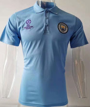 2019/20 Man City UCL Blue Polo Short Jersey