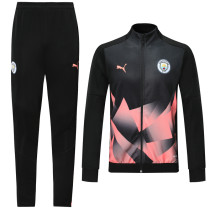 2019/20 Man City Black Jacket Tracksuit