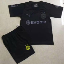 2020 Dortmund 110th Black Kids Soccer Jersey