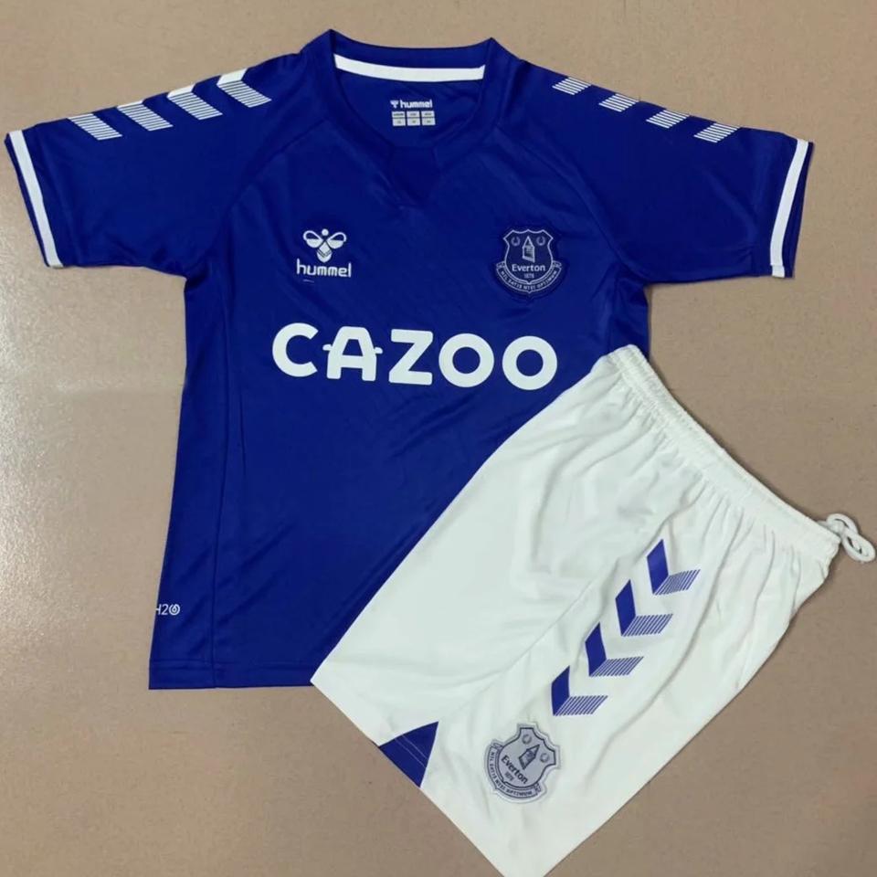 2020 21 Everton Home Kids Soccer Jersey