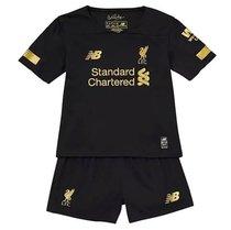 2019/20 Liverpool Black Goalkeeper kids Soccer Jersey