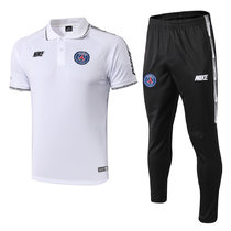 2019/20 PSG Paris White Polo Tracksuit