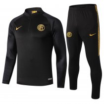 2019/20 Inter Milan Black Half Pull Sweater Tracksuit