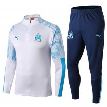 2019/20 Marseille White Half Pull Sweater Tracksuit