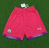 2019/20 Man City Pink Goalkeeper Short Pants