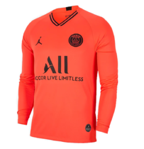 2019/20  PSG Paris Away Orange Long Sleeve Soccer Jersey