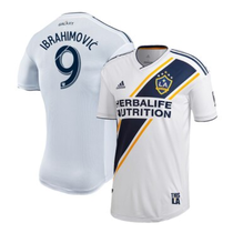 IBRAHIMOVIC #9 LA Galaxy Home White Player Soccer Jersey 2019/20