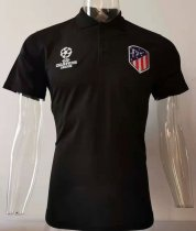 2019/20 AT Madrid Black Polo Short Jersey