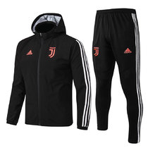 19/20 Juventus Black Windbreaker Full Sets