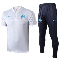 2019/20 Marseille White Polo Tracksuit