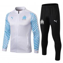 2019/20 Marseille White Jacket Tracksuit