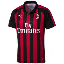 18/19 AC Milan Home Red And Black Fans Soccer Jersey