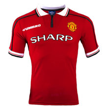 1998-1999 Man Utd Home Retro Soccer Jersey Shirt