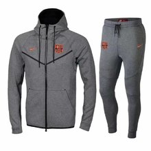 18-19 BA Grey Hoody Zipper Jacket Tracksuit