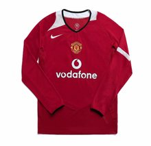 2006 Man Utd Home Long Sleeve Retro Soccer Jersey