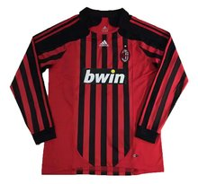 2007-2008 AC Milan Home Long Sleeve Retro Soccer Jersey