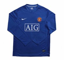 2008 Man Utd Away Long Sleeve Retro Soccer Jersey