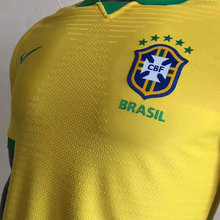 2019 Brazil Home Yellow 1:1 Quality Player Version Soccer Jersey