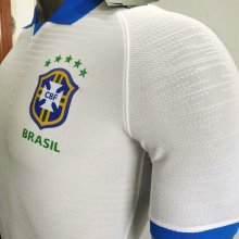 2019 Brazil Away White 1:1 Quality Player Version Soccer Jersey