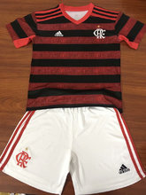 2019/20 Flamengo Home Red And Black Kids Soccer Jersey