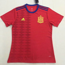 2019 Spain Home Red Fans Soccer Jerseys