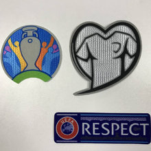 Euro 2019 Qualifiers Uefa Respect Soccer Patch Set Soccer Badges Jersey Flock