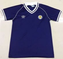 1982 Scotland Home Blue Retro Soccer Jersey