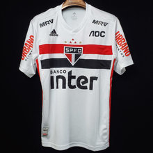 2019/20 Sao Paulo Home 1:1 Quality White Fans Soccer Jersey(All Sponsors)
