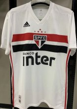 2019/20 Sao Paulo Home 1:1 Quality White Fans Soccer Jersey